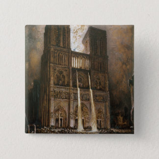 The Populace Besieging Notre-Dame 2 Inch Square Button