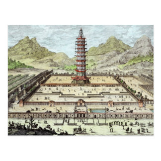 The Porcelain Tower of Nanking, plate 12 from 'Ent Postcard