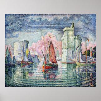 The Port at La Rochelle, 1921 Poster