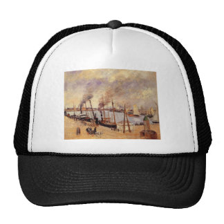 The Port of Le Havre 2 by Camille Pissarro Trucker Hat