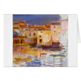 The Port of Martigues by Pierre-Auguste Renoir Card