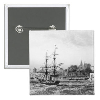 The Port of New Orleans 2 Inch Square Button