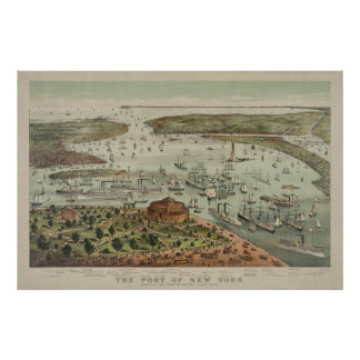 The Port of New York from the Battery Poster