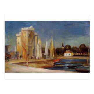 The Port of Rochelle by Pierre-Auguste Renoir Postcard