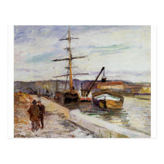 The Port of Rouen by Camille Pissarro Postcard