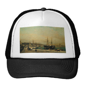 The port of Volos by Konstantinos Volanakis Trucker Hat