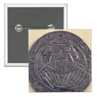 The portrait al-Mutawakkil  Caliph 2 Inch Square Button