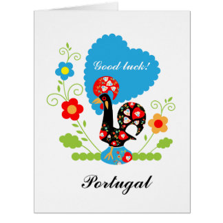 The Portuguese Rooster of Luck Big Greeting Card