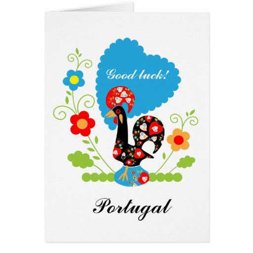 The Portuguese Rooster of Luck Greeting Card