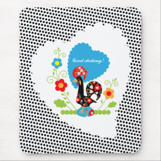 The Portuguese Rooster of Luck Mouse Pad