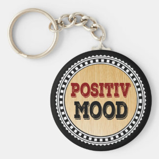The Positive Mood Basic Round Button Keychain