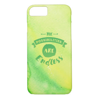 The Possibilities are Endless Green iPhone Case