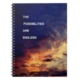 The Possibilities Are Endless Spiral Notebook