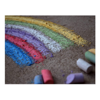 The Pot of Gold at the End of the Rainbow, Chalk Postcard