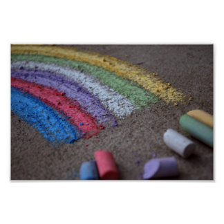 The Pot of Gold at the End of the Rainbow, Chalk Poster