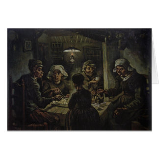 The Potato Eaters - Vincent Van Gogh (1885) Card