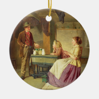 The Potter, 1876 (oil on canvas) Ceramic Ornament