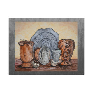 """The Potter's Pots"" Fine Art Still Life Canvas Print"
