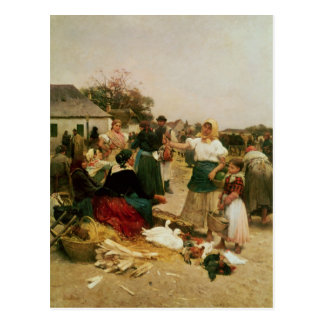 The Poultry Market, 1885 Postcard