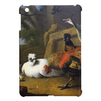 The poultry yard by Melchior d'Hondecoeter Cover For The iPad Mini