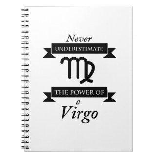 The Power Of A Virgo Symbol Zodiac Birthday Gift Notebook