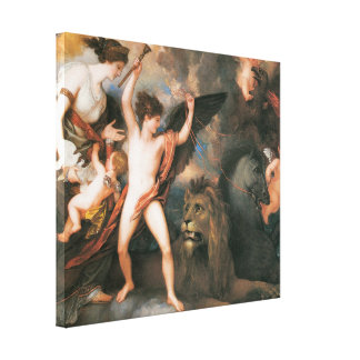 The Power of Love in the Three Elements 1809 Canvas Prints