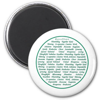 The power of positive words 2 inch round magnet