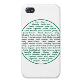 The power of positive words iPhone 4 case