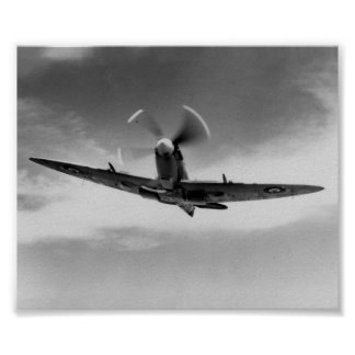'The Power & The Glory' - Supermarine Spitfire WW2 Poster