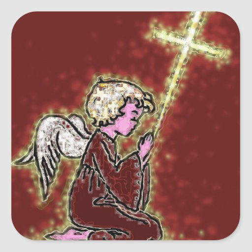 The Praying Angels. Stickers