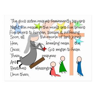 """The Praying Nun""  Story Art Gifts Postcard"