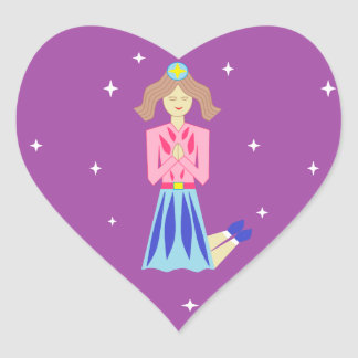 The Praying Princess Heart Sticker