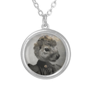 The Precocious Mis Squirrel Silver Plated Necklace