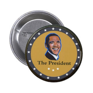 The President: Barack Obama Pinback Buttons