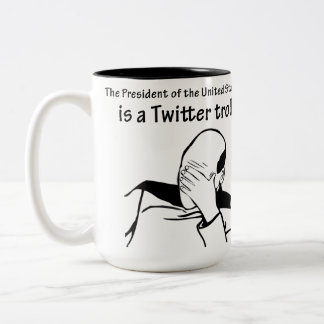 The President is a Twitter Troll Large Mug