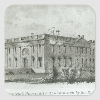 The President's House After its Destruction Square Sticker