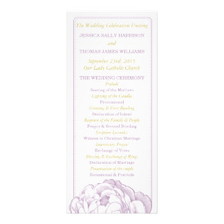 The Pretty Peony Floral Wedding Collection Customized Rack Card