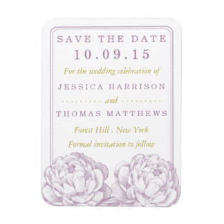 The Pretty Peony Floral Wedding Collection Magnet