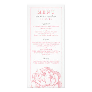 The Pretty Peony Floral Wedding Collection Rack Card Design