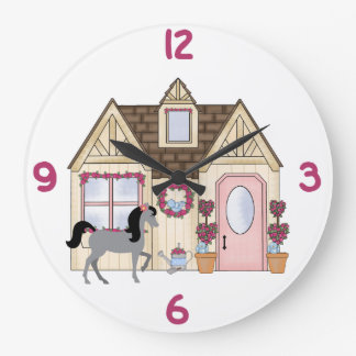 The Pretty Ponies House Horse Clock