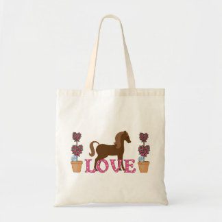 The Pretty Ponies Love Horse Tote Bag