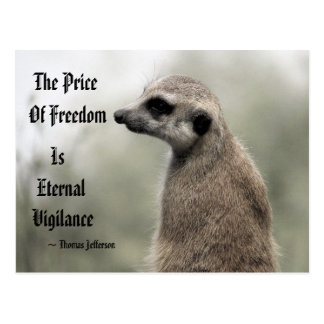 The Price Of Freedom is Eternal Vigilance - Quote Postcard