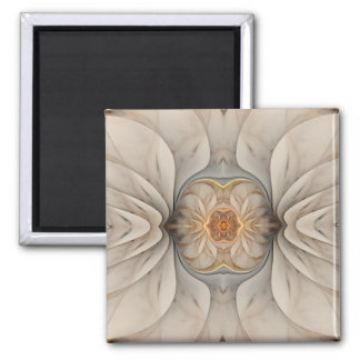 The Primal Om Abstract Floral Magnet