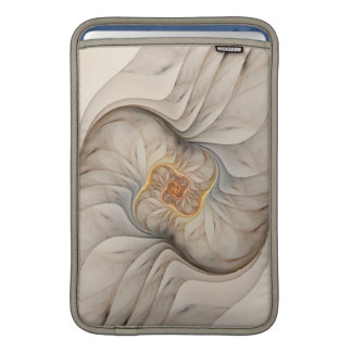 The Primal Om Cream Abstract Floral Spiral Sleeve For MacBook Air