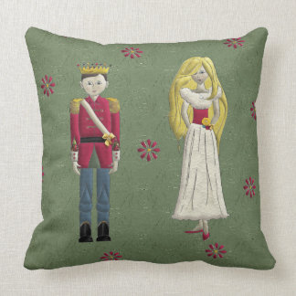 The Prince and Clara  Reversible Nutcracker Throw Pillow