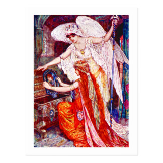 The Princess and the Templar Angel Postcard