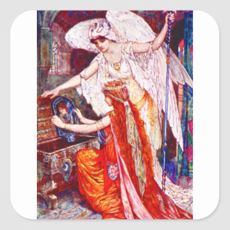 The Princess and the Templar Angel Square Sticker