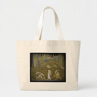 The Princess and the Trolls Large Tote Bag