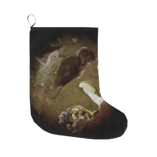 The Princess and Trolls Walk Through Forest Large Christmas Stocking