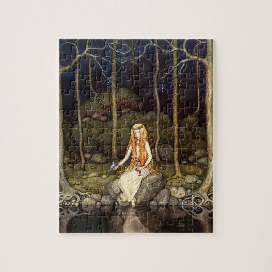 The Princess in the Forest Jigsaw Puzzle